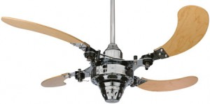 Retractable Ceiling Fan, Contemporarym Modern Portland