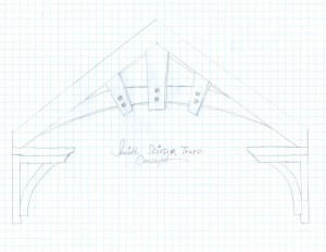 Timberframe Lodge Truss Handdraw