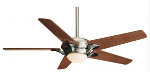 Nickel Ceiling Fan Wood