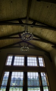 TImberframe Wood Ceiling, Corbels, Wood Windows