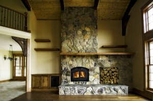 Northwest Lodge Fireplace, new construction Sherwood Or