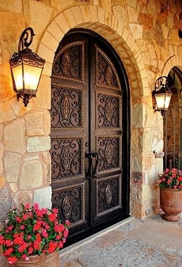 Custom Home Entry Exterior