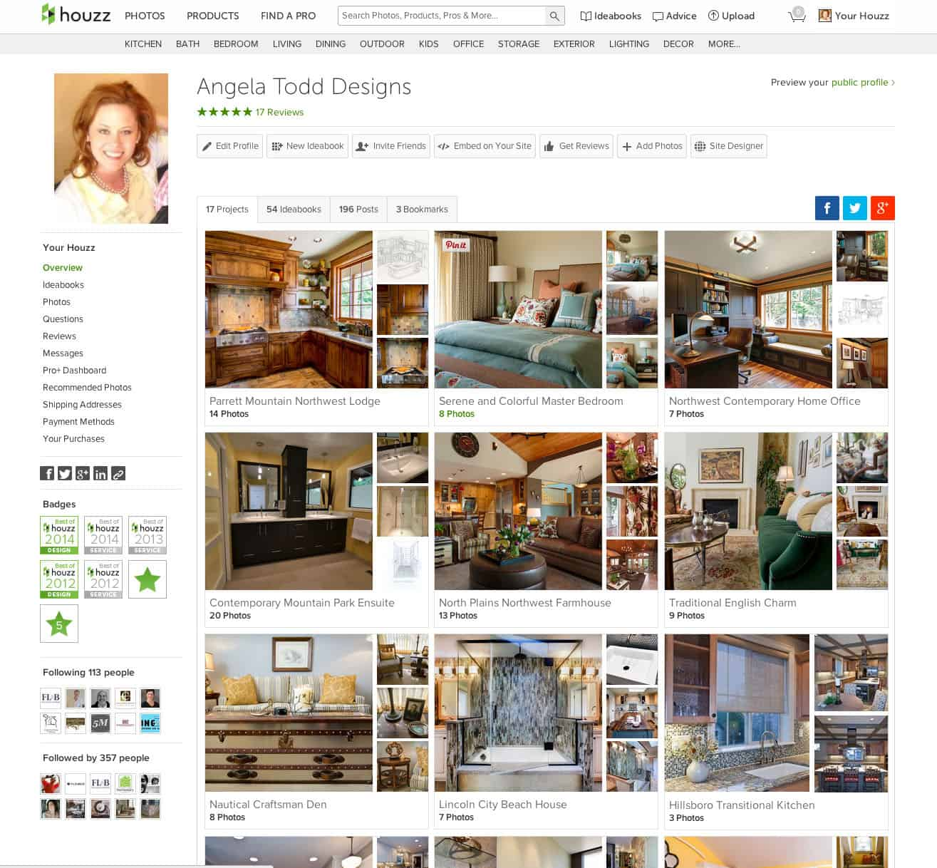 Best of Houzz 2014 – Angela Todd Designs
