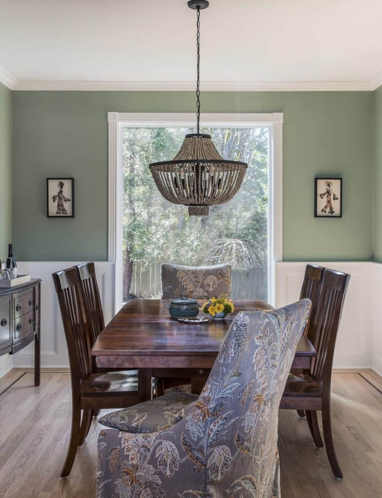 Dining room oak floors