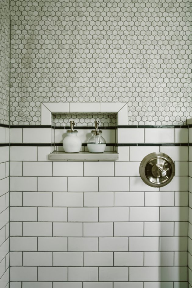 1921 Laurelhurst Cottage Bathroom Tiles Design