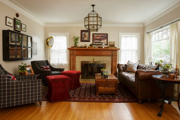 1921 Laurelhurst Cottage Family Room Design