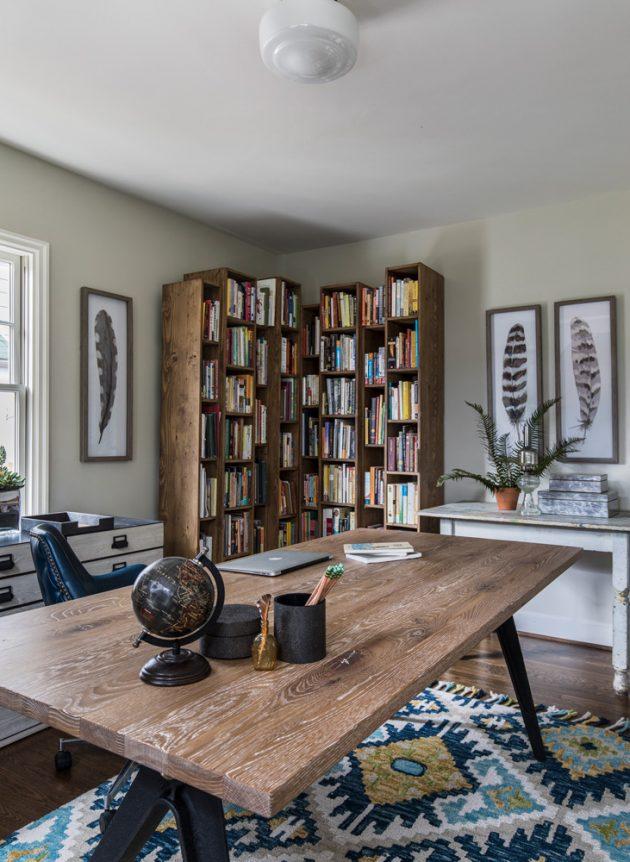 1932 Hoyt Street Tudor Study Room Design