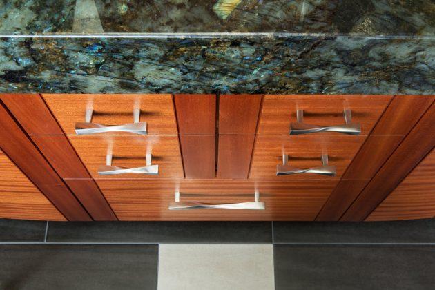 Cedar Mills Master Bathroom Sapele Cabinets Design