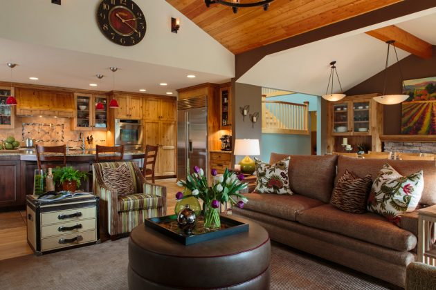Mason Hill Vineyard Family Room Design