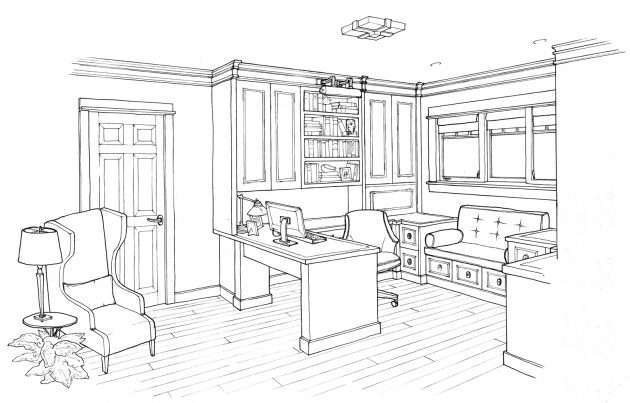 Mason Hill Vineyard Office Conceptboard Sketch
