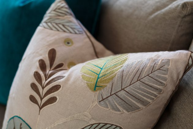 Sylvan Heights Bungalow Custom Pattern Pillow