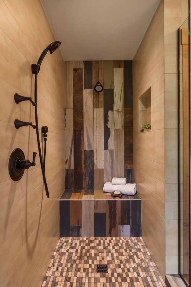 Whimsical Farmhouse Bathroom Shower Detail