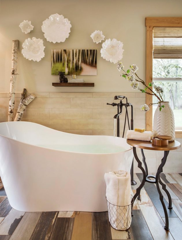 Whimsical Farmhouse Bathtub Design
