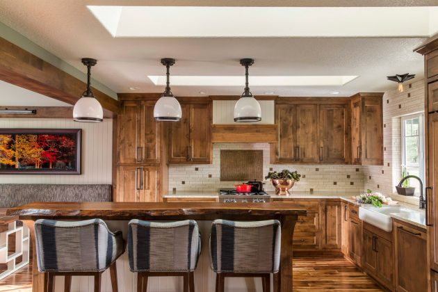 Whimsical Farmhouse Open Kitchen Interiors