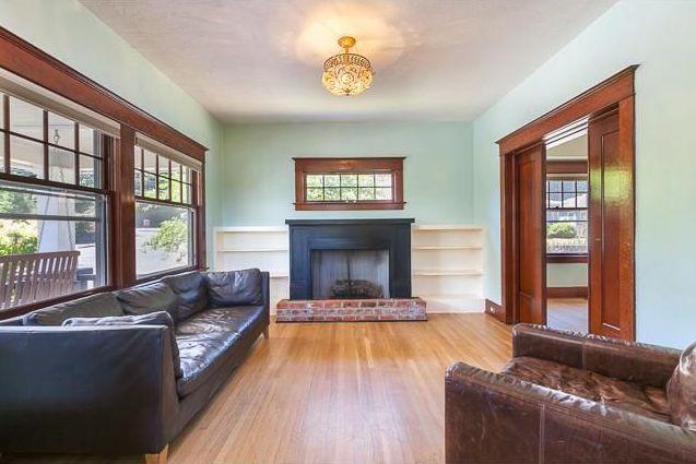 Portland Foursquare Living Room